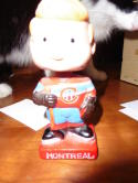 1961-1963 Montreal Canadians Bobbin Head bobbler mini bobble head