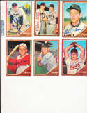 1962 Topps Signed Card 202 Carl Warwick Cardinals.