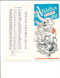 1952 Philadelphia Athletics Roster & guide