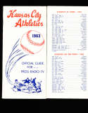 1963 Kansas City Athletics Press Guide