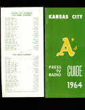1964 Kansas City Athletics Press Guide