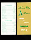 1965 Kansas City Athletics Press Guide