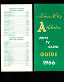 1966 Kansas City Athletics Press Guide