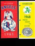 1968 Oakland Athletics Press Guide em; binder edition