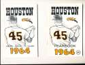 1964 Houston Colt .45s Astros Yearbook em  bxb2