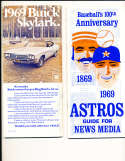 1969 Houston Astros Press Guide
