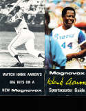 Hank Aaron Home Run 714 Magnavox press Guide