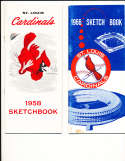 1966 St. Louis Cardinals Sketchbook Press Guide