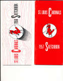 1956 St. Louis Cardinals Sketchbook Press Guide