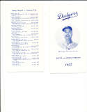 1955 Brooklyn dodgers Spring training  player roster Guide