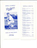 1956 Brooklyn dodgers Spring training player roster Guide