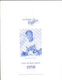 1958 Los Angeles dodgers Spring training player roster Guide