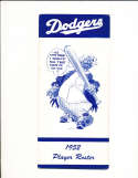 1952 Brooklyn dodgers Spring training player roster
