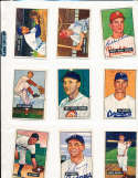 1951 Bowman Signed Card 13 Eddie Stanky Giants (bd)