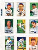 1951 Bowman Signed Card 236 Warren Rosar Red Sox tape