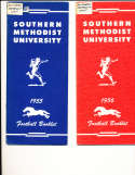 1955 SMU Southern Methodist University Football Media Press Guide CFBmg1