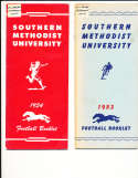 1954 SMU Southern Methodist University Football Media Press Guide CFBmg1
