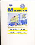 1962 University of Michigan Football Media Press Guide CFBmg1