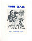 1974 Penn State 1974 Football Spring Press Guide CFBmg6