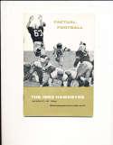 1963 Iowa Football Media Press Guide (crease) CFBmg1