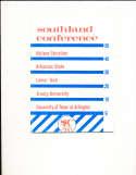 1957 Southland Conference abilene Football Media Press Guide