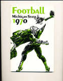 1970 Michigan State Football Media Press Guide CFBmg3