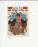 1961 Topps vintage signed 585 Bob Friend Pirates