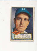 1952 Topps  vintage signed 205 Clyde King Dodgers creased