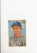 1952 bowman 206 Elmer Valo Athletics  vintage signed tape