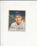 1950 bowman vintage 243 Johnny Groth Tigers signed
