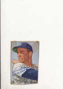 1952 bowman signed vintage 210 Archie Wilson Senators trimmed