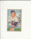 1952 bowman signed vintage 241 Mel Parnell red sox crease