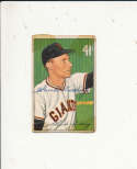 1952 bowman signed vintage 198 Chuck Diering Giants tape