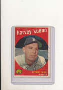 1959 Topps vintage signed 70 Harvey Kuenn Tigers