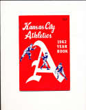 1962 Kansas City Athletics Baseball Yearbook nm bxb1