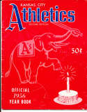 1956 Kansas City Athletics Baseball Yearbook 2nd ed ex bxb1