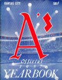 1957 Kansas City Athletics Baseball Yearbook nm bxb1