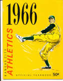 1966 Kansas City Athletics Baseball Yearbook nm bxb1