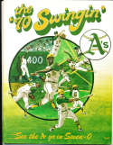 1970 Oakland Athletics Baseball Yearbook nm bxb1