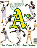 1992 Oakland Athletics Baseball Yearbook nm bxb1