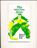 1973 Golden Seals Hockey Press Media Guide em bxg1