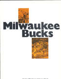 1975 10/21 Stars vs Bucks Last NbA/ABA game unscored program