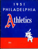 1951 Philadelphia  Athletics Baseball Yearbook 2nd ed em bxb1