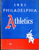 1951 Philadelphia  Athletics Baseball Yearbook 1st ed em bxb1