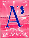 1957 Kansas City  Athletics Baseball Yearbook 2nd ed em bxb1