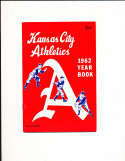 1962 Kansas City  Athletics Baseball Yearbook rev. em/nm bxb1