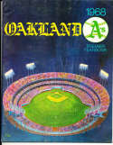 1968 Oakland  Athletics Baseball Yearbook 1 nm bxb1