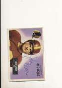 1955 bowman card vintage signed 22 John Carson Redskins