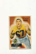 1955 bowman vintage signed 82 Les Richter Rams NFL Card