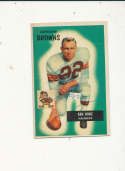 1955 bowman card vintage signed 113 Ken Konz Browns